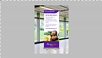 Housing benefit roller banner stand